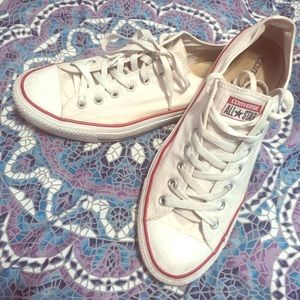 White low top converse